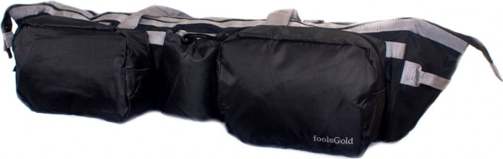 foolsGold Dual Yoga Mat Bag - Black/Grey